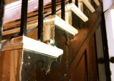 Staircase restoration detail