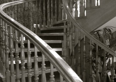 Victorian pine staircase