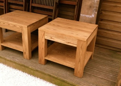 Pair of ash coffee tables