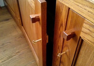 Fitted oak cabinet