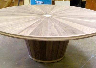 Walnut & ash dining table