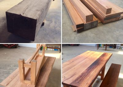 From beam to furniture