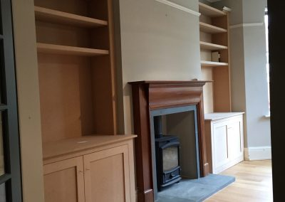 Fitted lounge cabinets (pre painting)