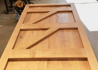 Bespoke oak car port doors