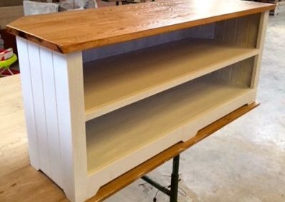 TV stand with oak top