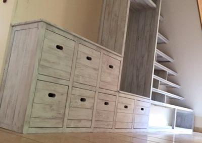 Driftwood effect understairs storage